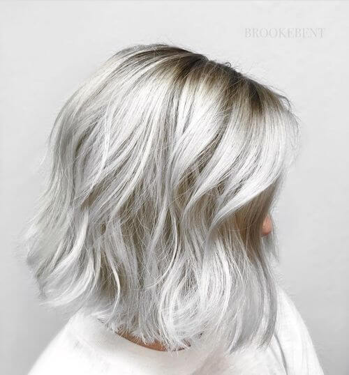 silver hair color for women