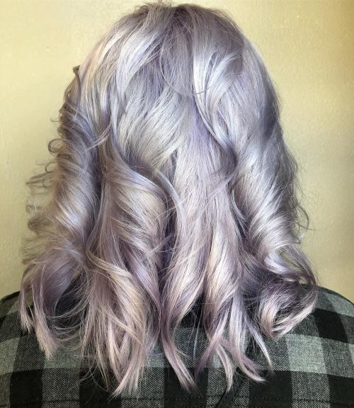 Picture of silver mauve hair color