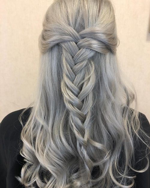 Picture of silver mermaid hair color
