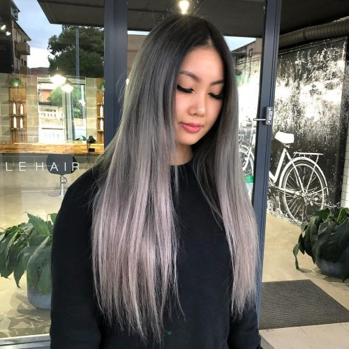 Picture of a silver ombre