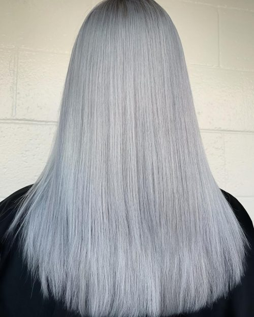 Silver Platinum Blonde Hair Color