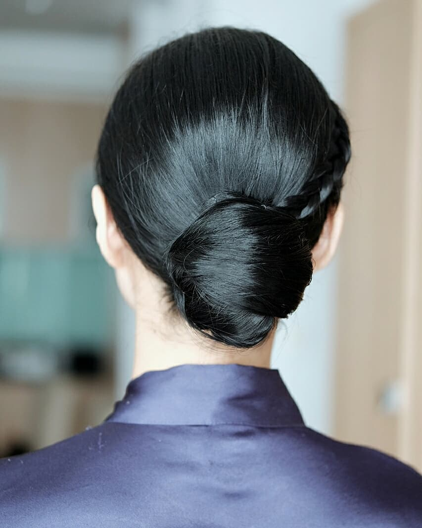 Simple Classic Chignon hairstyle