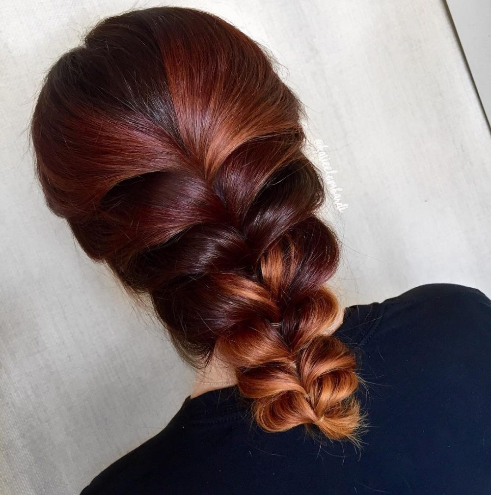 Simple Faux Braid hairstyle