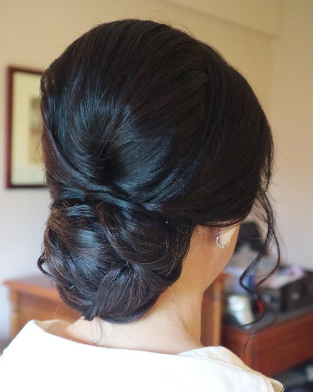 Simple Low Updo Hairstyle