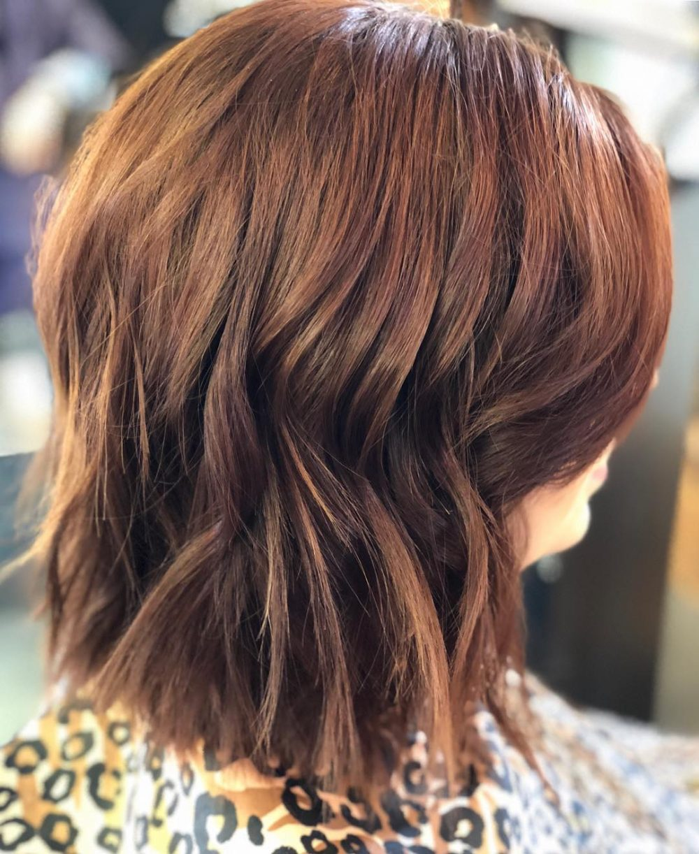 Simple Choppy Textured Bob Hairstyle