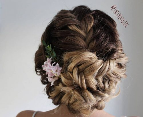Picture of a simple versatile french braided updo