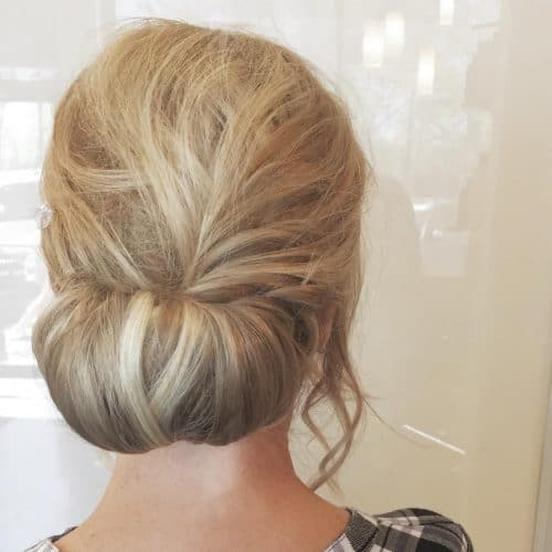 Simple and Soft Updo hairstyle