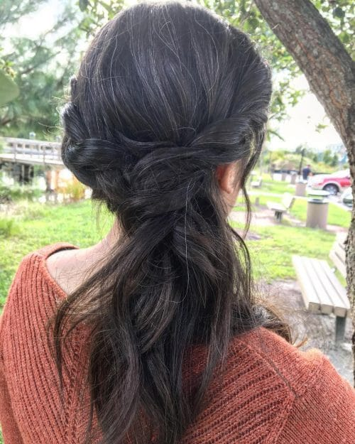 Simple Elegant Twist hairstyle
