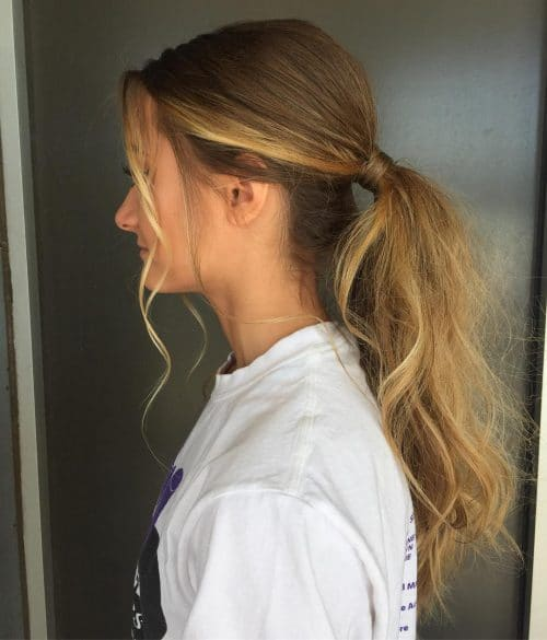 Sleek and Textured Ponytail hairstyle