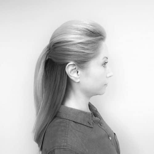 Sleek Half Up Style hairstyle