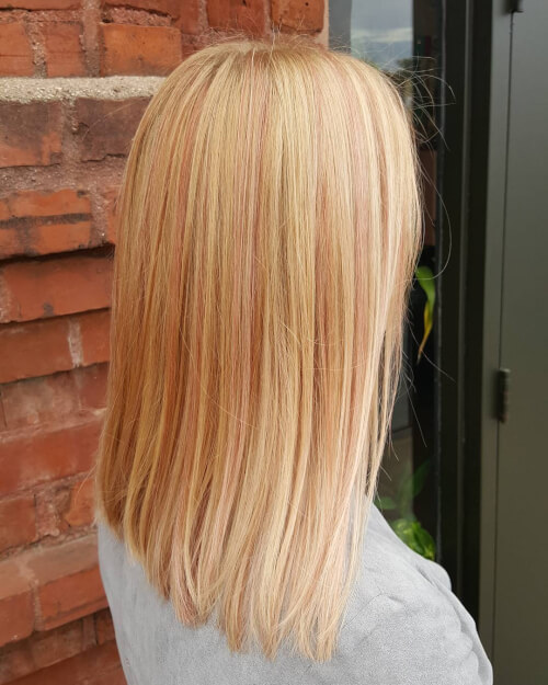slice of rose gold hair color