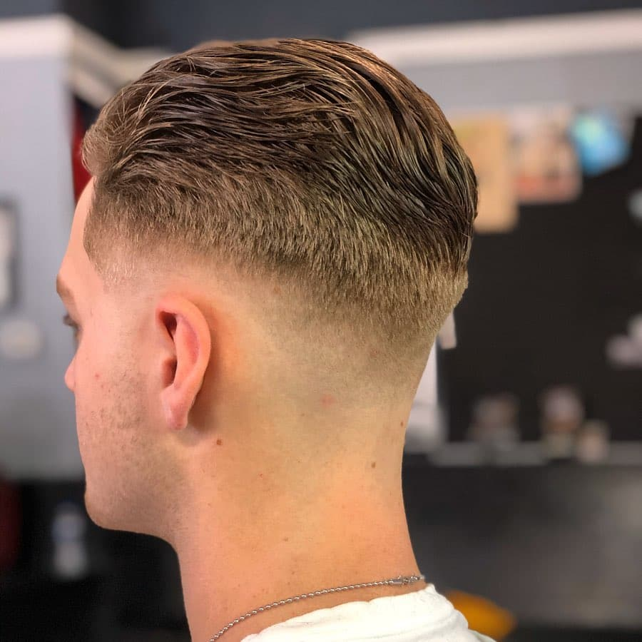 slick back style for wavy hair
