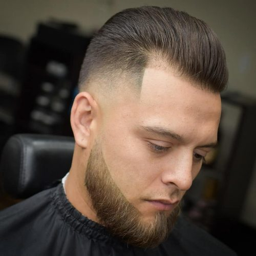 Slicked back skin fade
