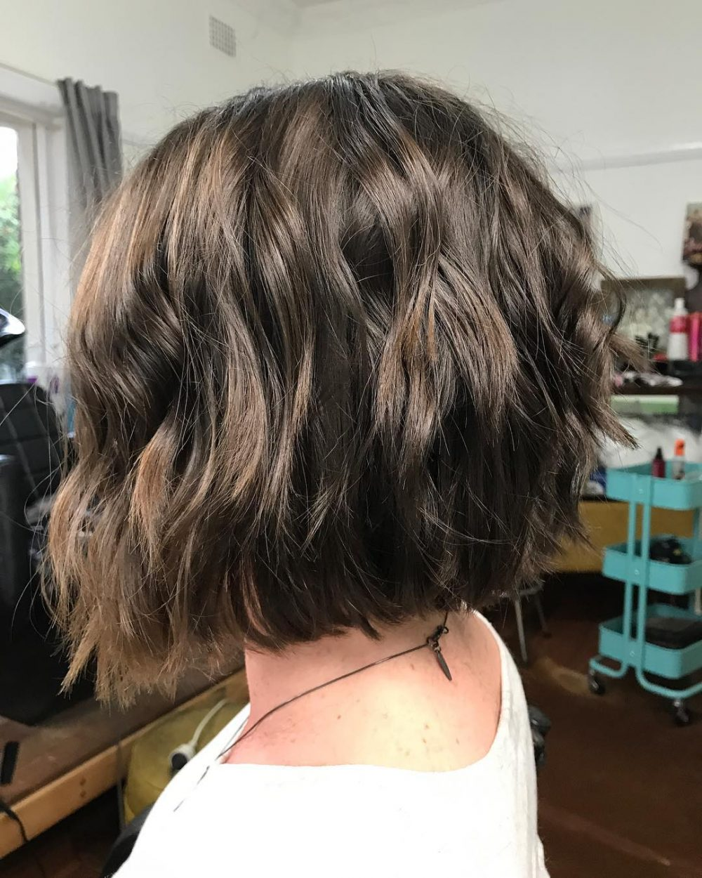 Slightly Concave Blunt Bob hairstyle