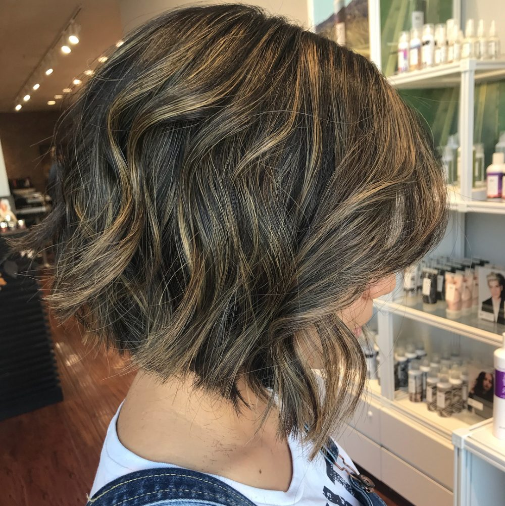 Slightly Graduated Bob with Texture hairstyle