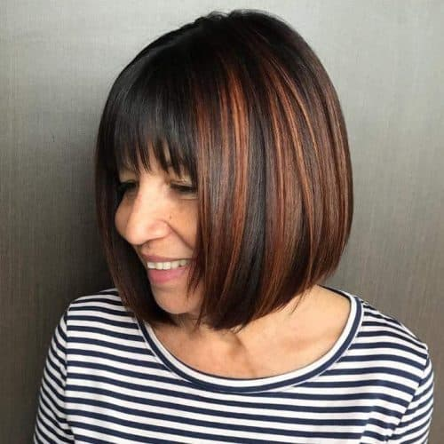 Hairstyles for women over 60 with Round Face