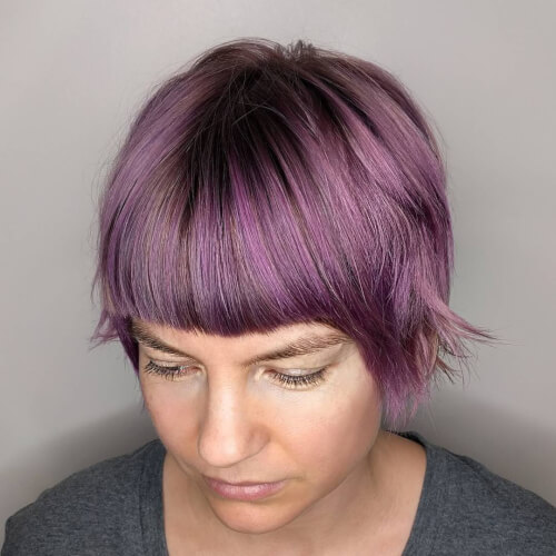 smoky plum balayage hair color