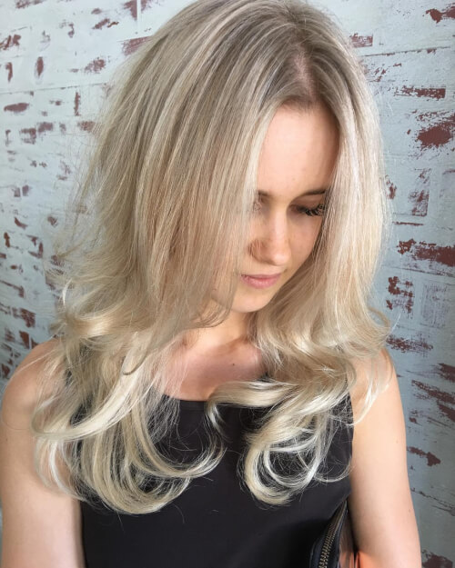 Soft Blonde hairstyle