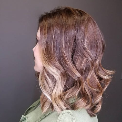 Picture of a soft brown balayage color