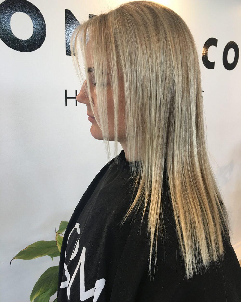 Soft Creamy Blonde hairstyle