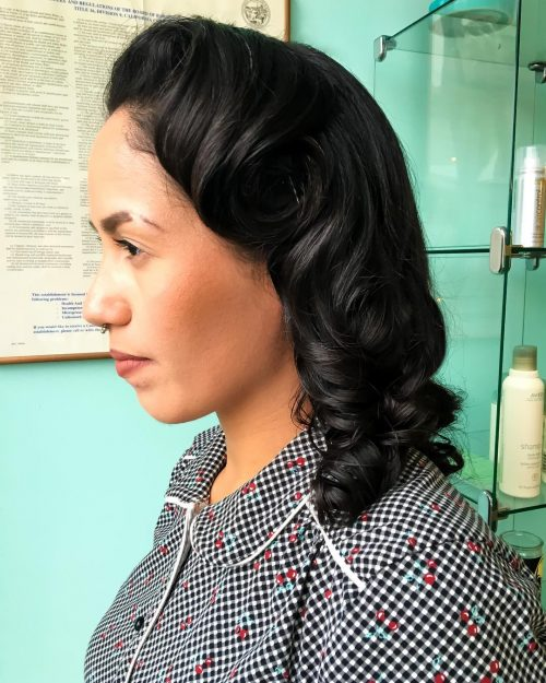 Picture of soft curls vintage hairstyle