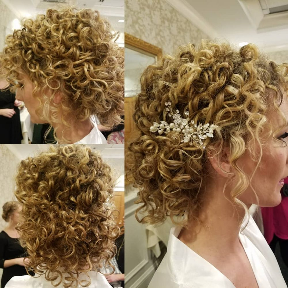 Effortless Bridesmaid Upstyles: 29 Curly Updos For Curly Hair (See These Cute Ideas For 2019