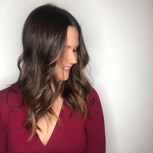 Picture of a soft dimensional balayage casual hairstyle