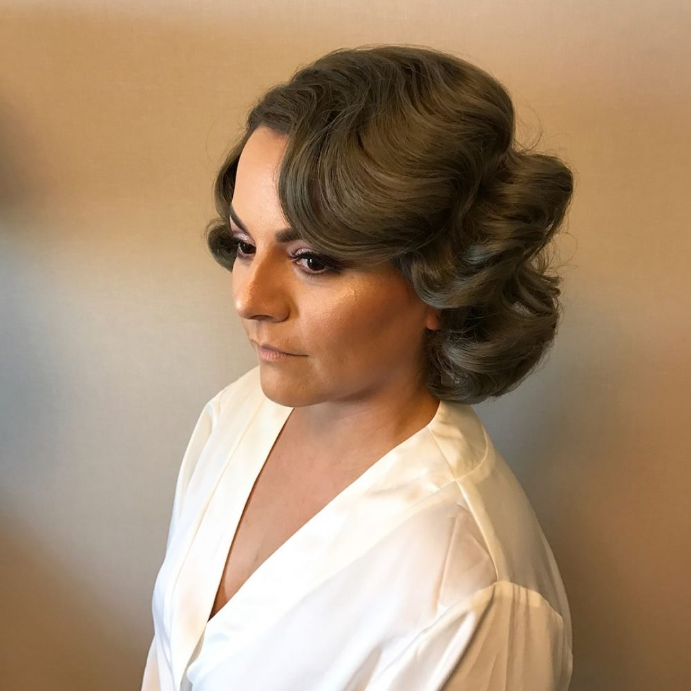 Soft Finger Wave hairstyle