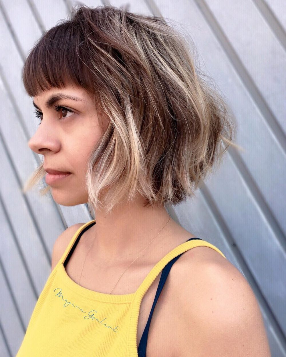 Soft Layers and Solid Bangs hairstyle