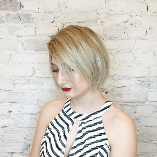 Picture of a soft platinum bob modern hairstyles