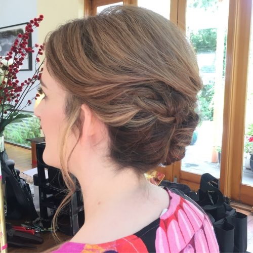 Picture of a soft updo elegant hairstyle