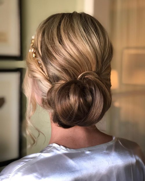 Picture of soft wedding updo