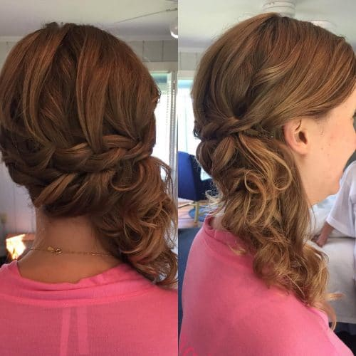 Wedding Hairstyle Upstyle: 25 Best Updos For Medium Hair In 2019
