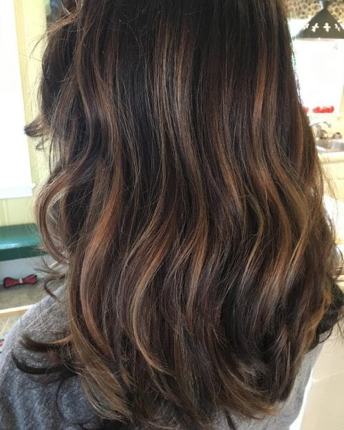 41 Incredible Dark Brown Hair With Highlights (Trending for 2018)