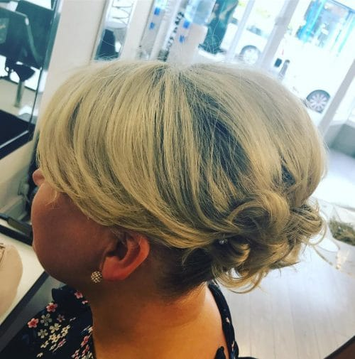 Soft Flowing Updo hairstyle