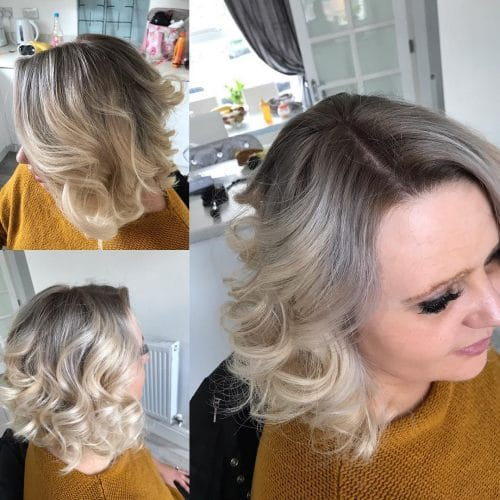 Soft Inverted Bob for round faces and thin hair
