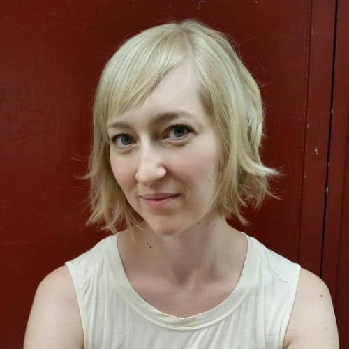 Noteworthy short soft texture hairstyle with sweeping bangs