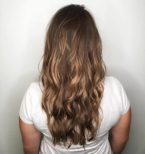 Long Layered Haircut With Balayage Highlights