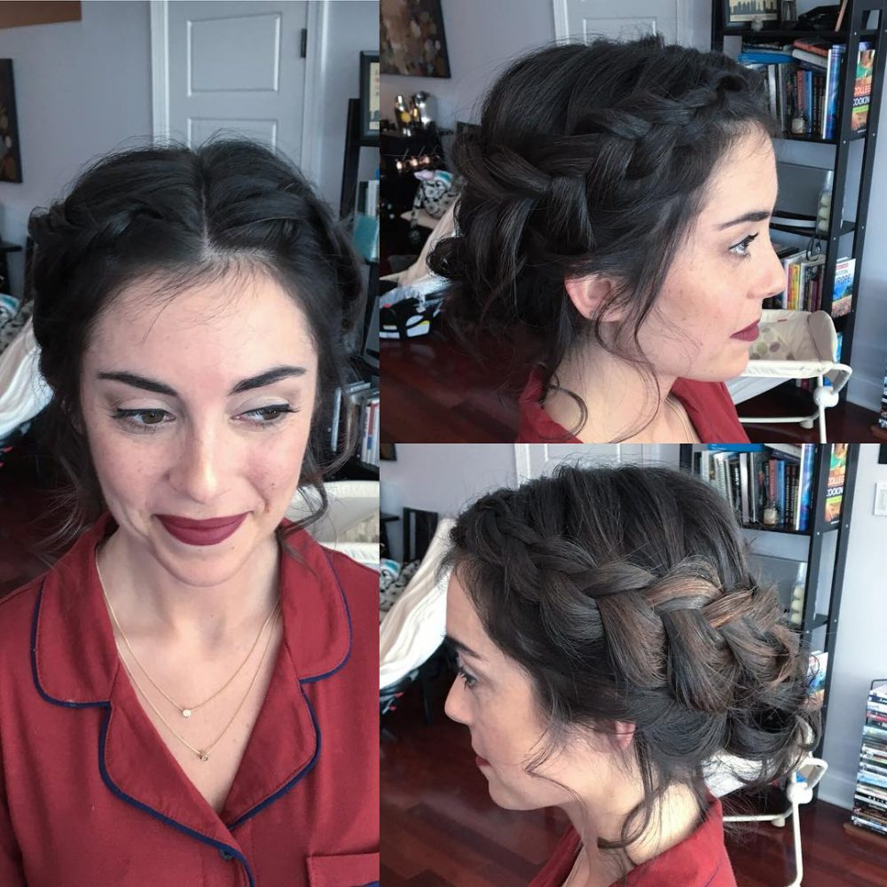 Softly Braided hairstyle