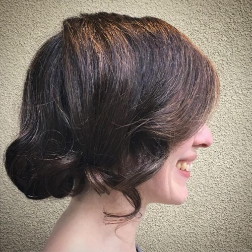 Picture of a softly swept faux bob
