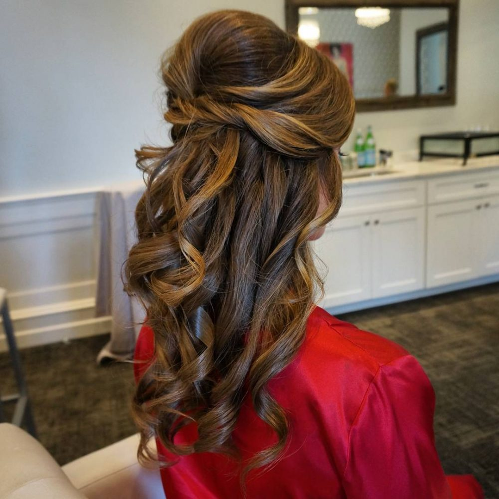 Sophisticated Half Updo hairstyle