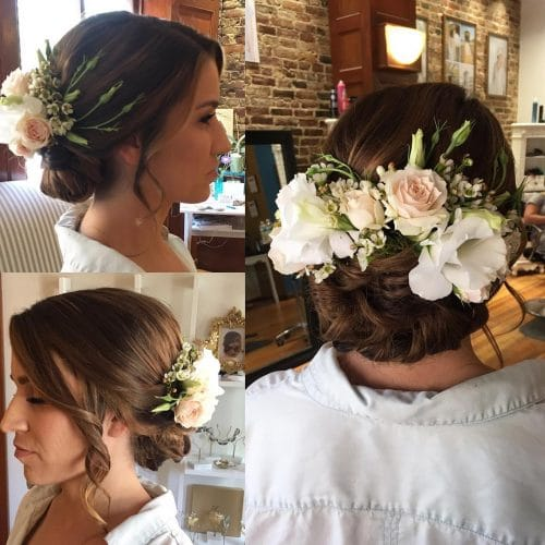 Sophisticated Bohemian hairstyle