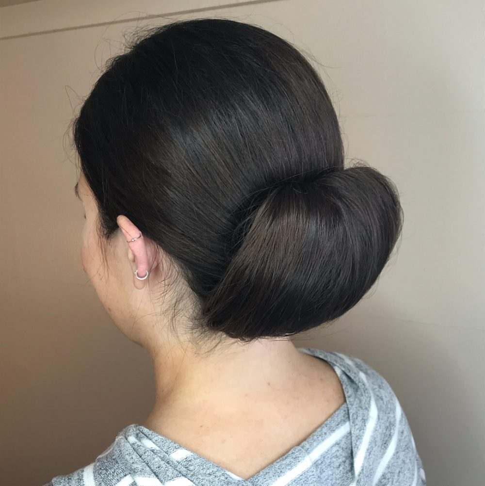Special Flaired Bun hairstyle