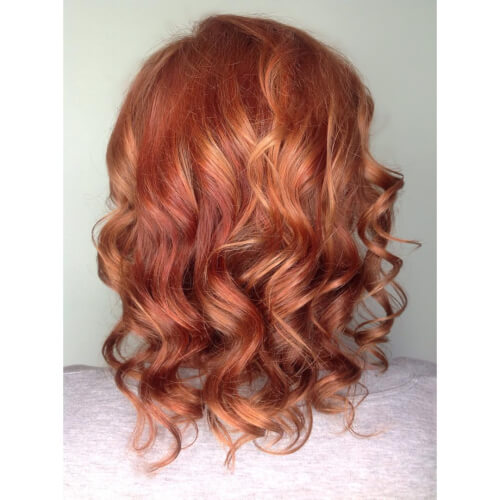 A long bob with red hair