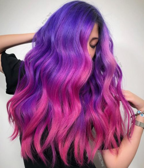 23 Incredible Galaxy Hair Color Ideas of 2019