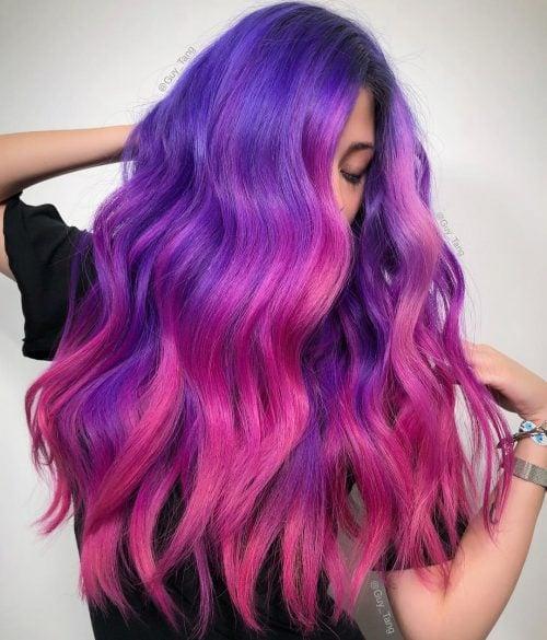 Spiral Galaxy Lavender Magenta