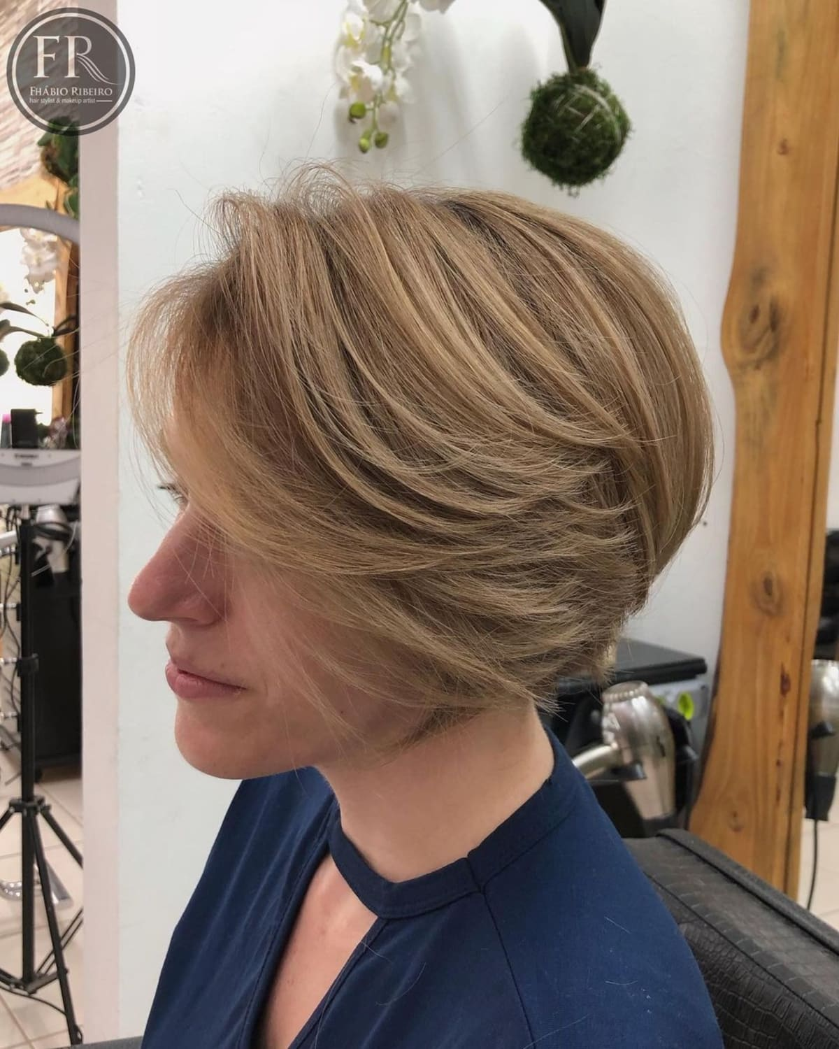 Stacked Feathered Bob Cut