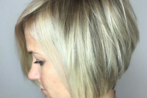 A short layered haircut