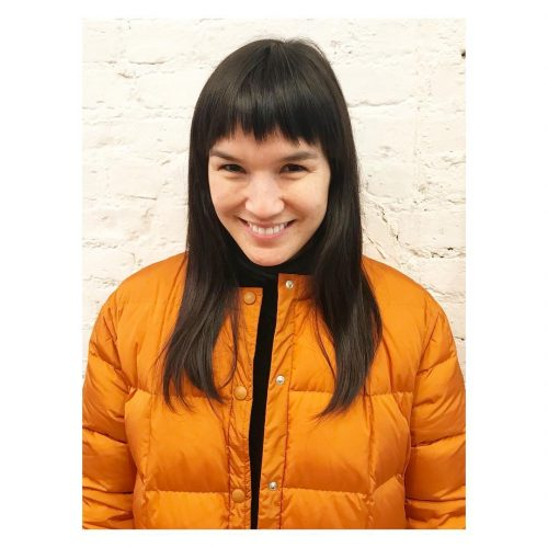 Picture of statement fringe short bangs