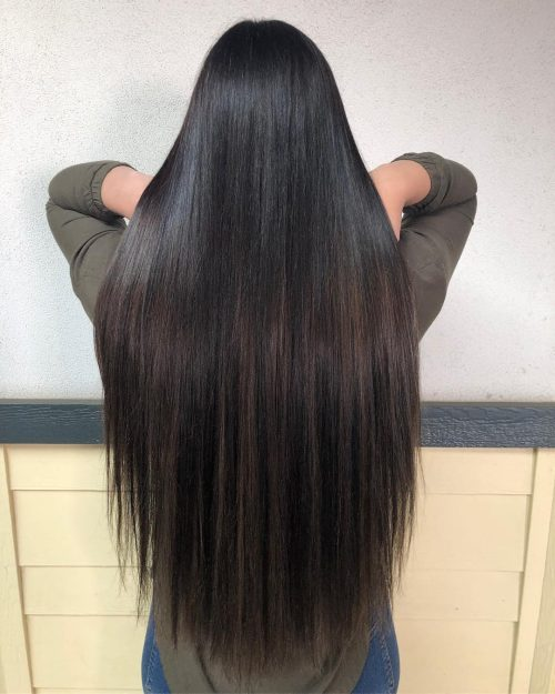 Straight Dark Brown Balayage